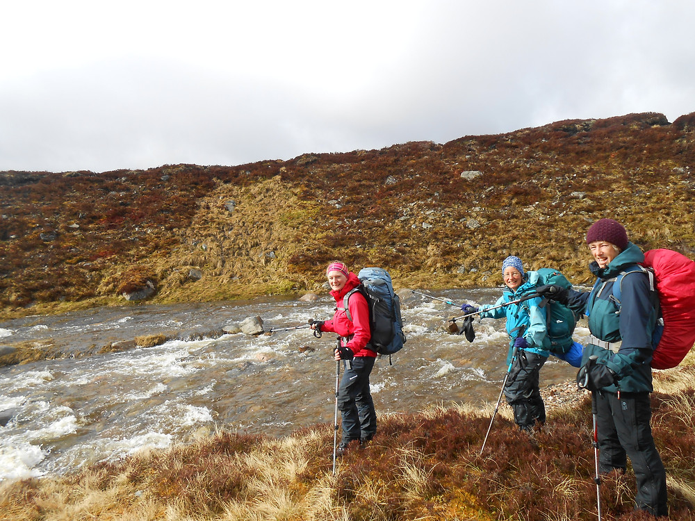 after crossing Allt Dhaidh Mor burn