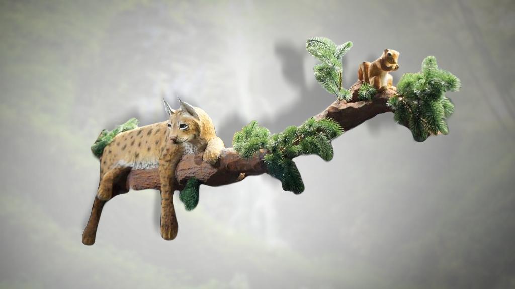 Рысь и белка