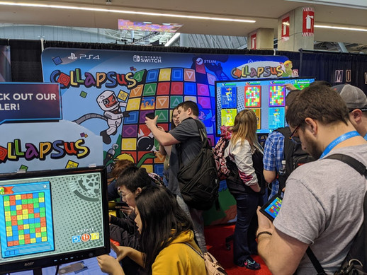 An absolutly packed booth at PAX East 2020