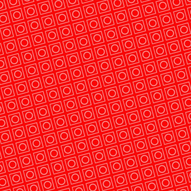 Red Collapsus Blocks tile