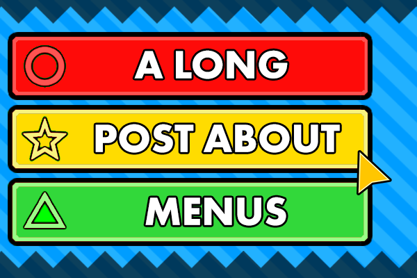 """""""A Long Post About Menus"""" title card"""