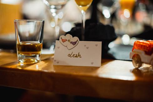 Hochzeit Namenskarte