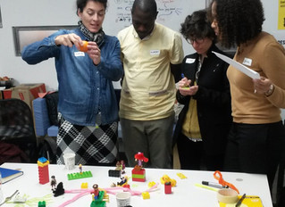 Creating participatory leadership with pipe cleaner and comic figures