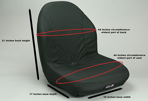 John Deere Gator 21 Inch High Back Bucket Seat Cover