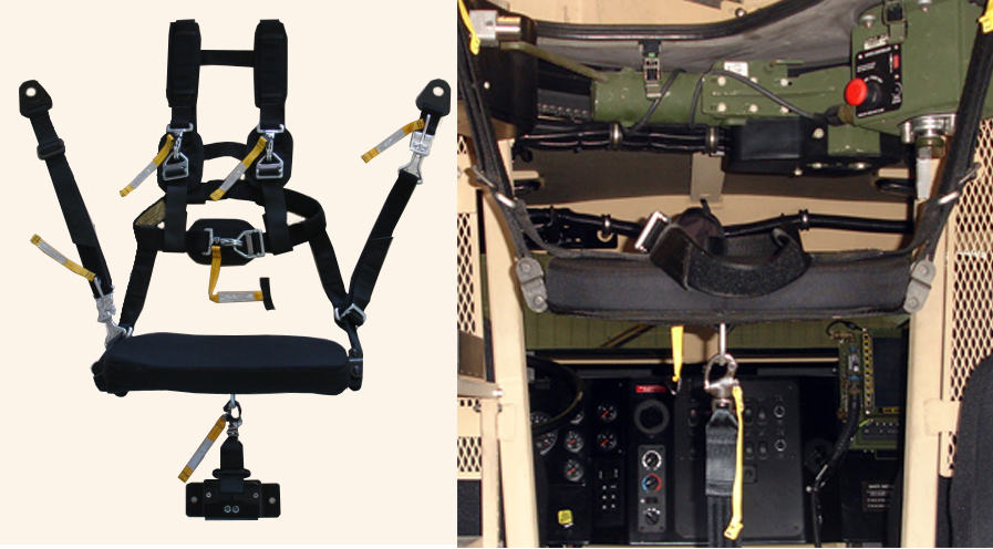 BMI Defense Systems Gunner Restraint System