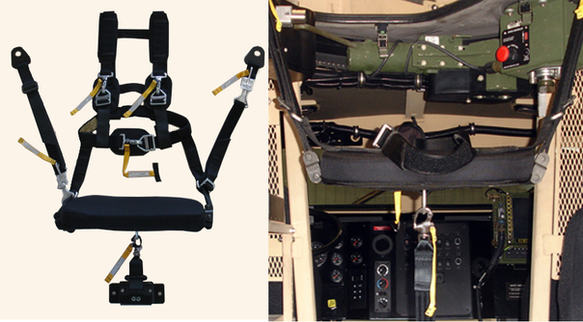 BMI Defense Systems Gunner Restraint System