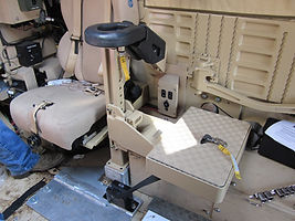MRAP Cougar GS2R Rotating Energy Attenuating Gunner Platform