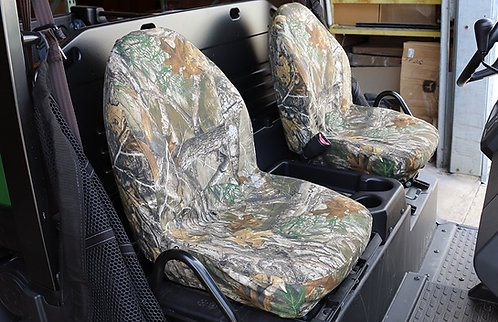 John Deere Gator 21 inch High Back Bucket Seat Covers Realtree EDGE camo