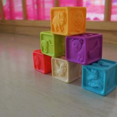 Aquarela Espaço Infantil: cubos coloridos