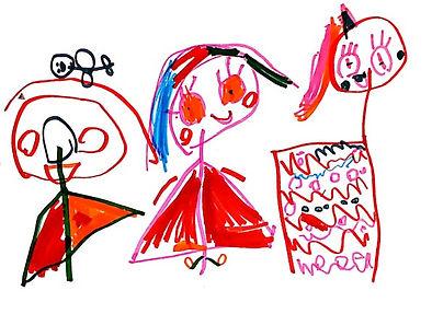 Grafismo criado por criança na Aquarela