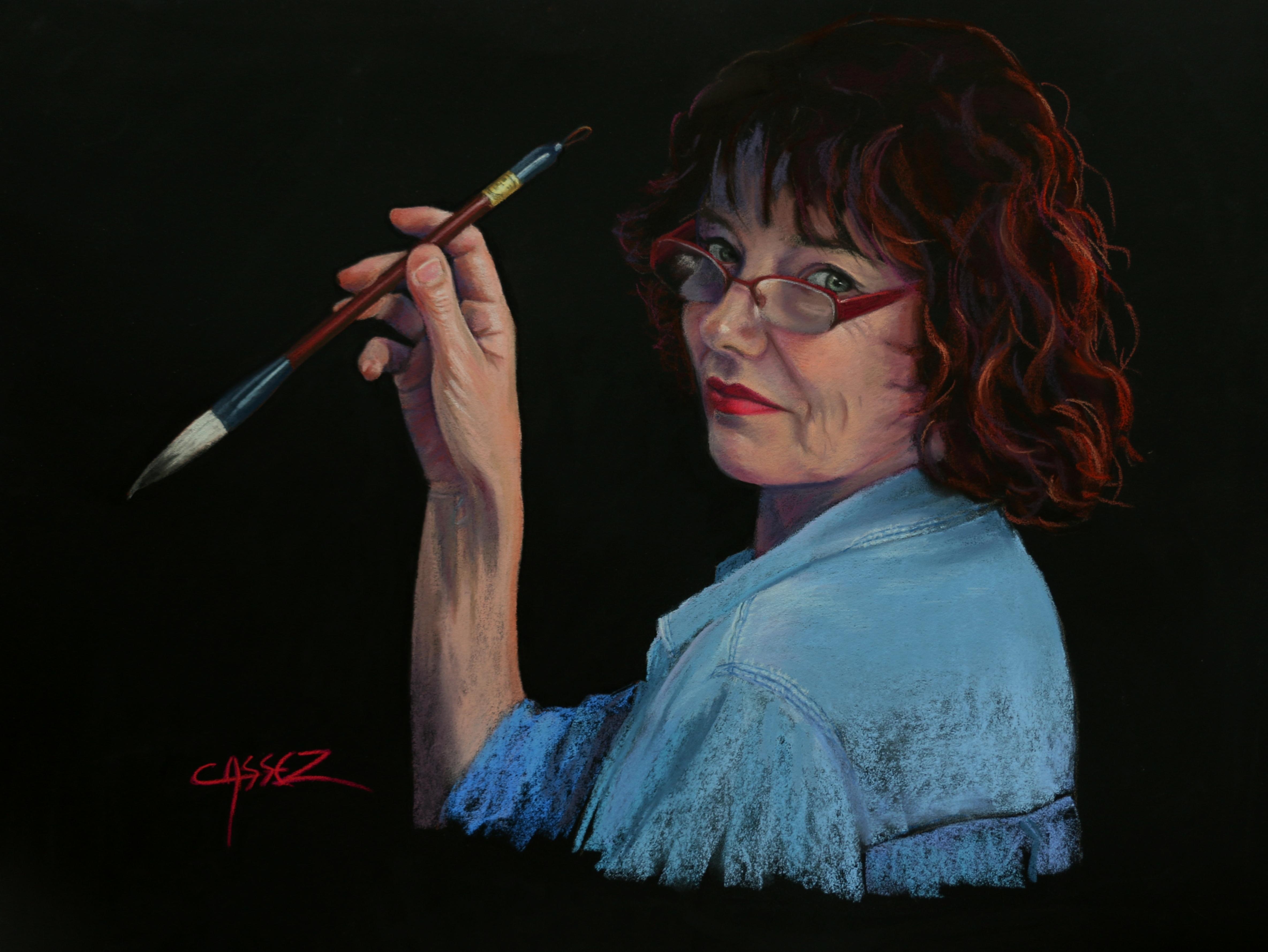 Autoportrait au Pinceau Chinois