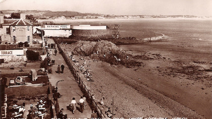 Havre des Pas Promenade in the Thirties (postcard in family)