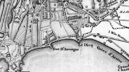 Havre des Pas Map 1849 Courtesy of the Société Jersiase