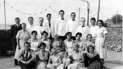 Fort d'Auvergne Staff and family, 1953.  (Family photo.)