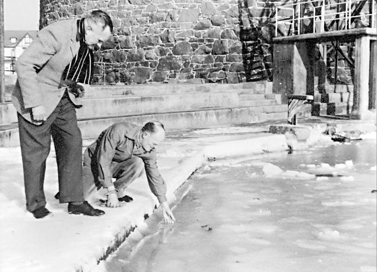 Bathing Pool Frozen 1963  (courtesy John Fage)
