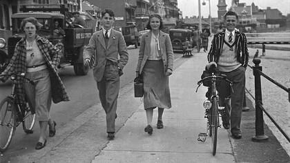 Malcolm Cabeldu and Friends,1944.  (Family photo.)
