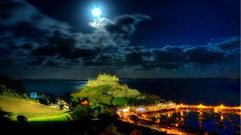 Full Moon over Gorey Castle -Tony Safe