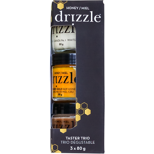 Drizzle Raw Honey Taster Trio