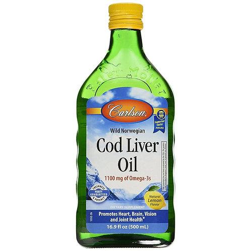Carlson Wild Norwegian Cod Liver Oil - 500ml Bottle