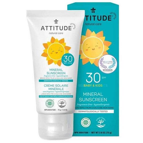 Attitude SPF 30 Mineral Sunscreen Baby & Kids
