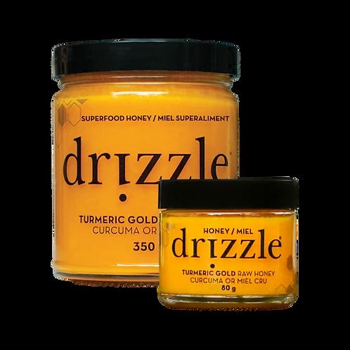 Drizzle Turmeric Gold Raw Honey