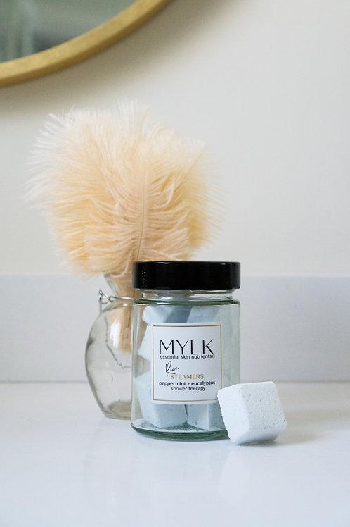 MYLK Revive AM Shower Steamers - Peppermint + Eucalyptus