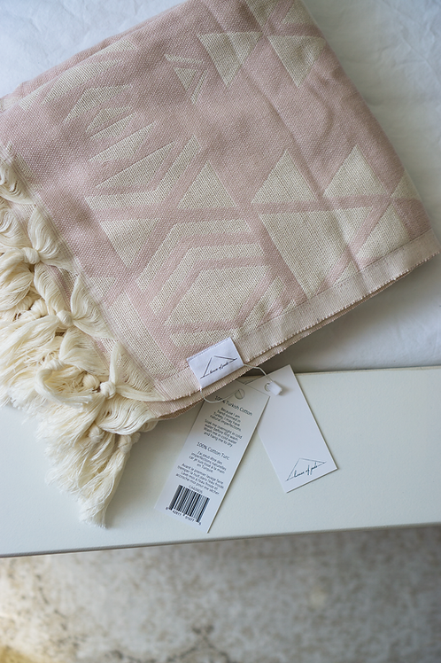 Oversized Turkish Towel - Primrose Jacquard