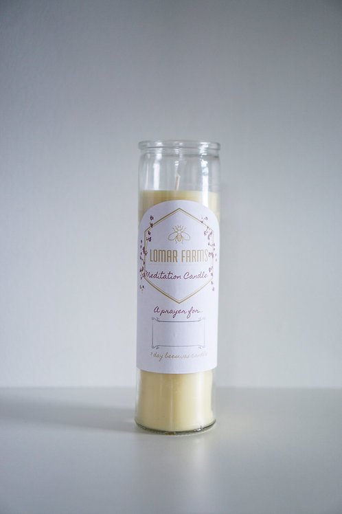 Lomar Farms Meditation Beeswax Candle