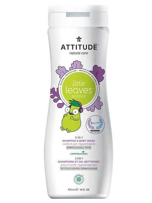 Attitude Little Leaves 2-1 Shampoo & Body Wash - Vanilla Pear