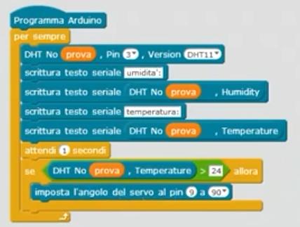 Codice Mblock pattern motorio