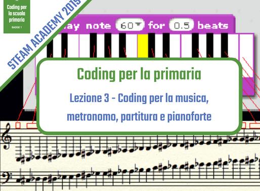 Coding per la musica: metronomo, partiture e pianoforte