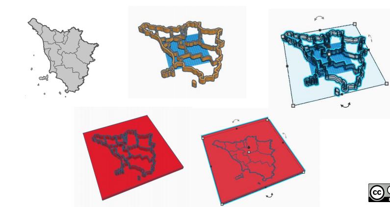 stampa 3D geografia