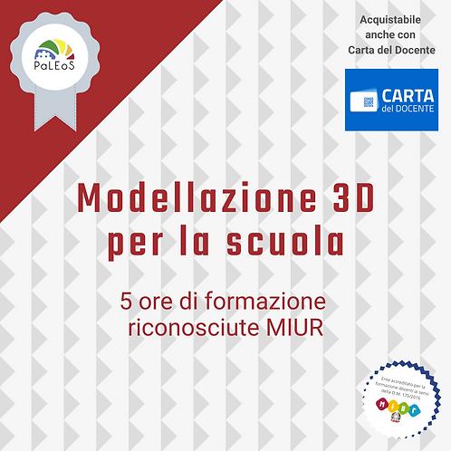 Modellazione 3D per la scuola