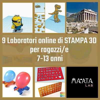 9 Laboratori stampa 3D per ragazzi