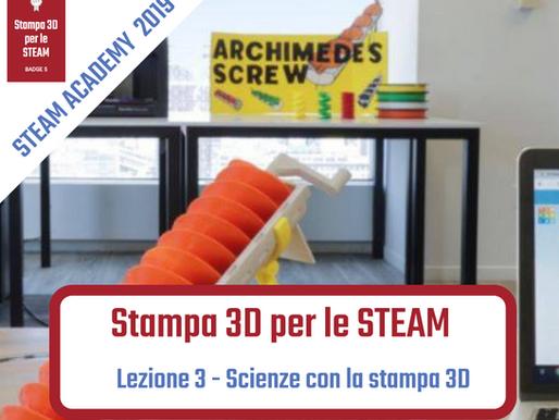 Scienze con la stampa 3D
