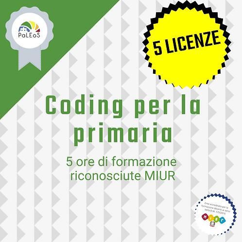 Coding per la primaria - 5 licenze
