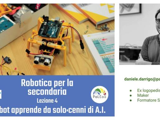 VIDEO Il robot apprende da solo: cenni di A.I. Parte 4