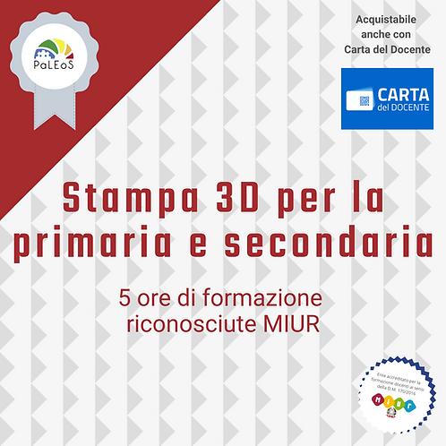 Stampa 3D per la primaria e secondaria