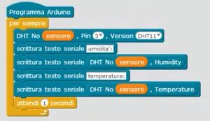 Codice Mblock sensore temperatura