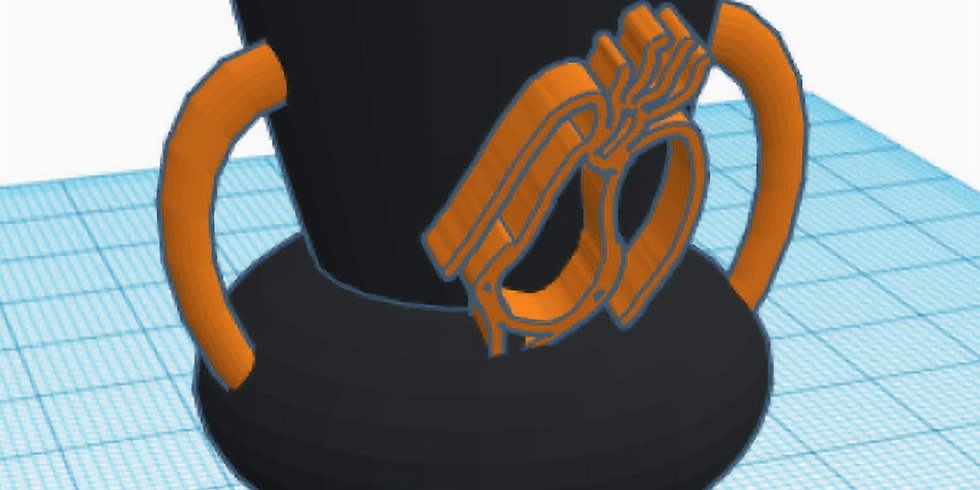 Disegna e stampa in 3D un vaso a figure rosse