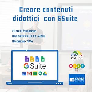 Creare contenuti didattici con GSuite - 25h