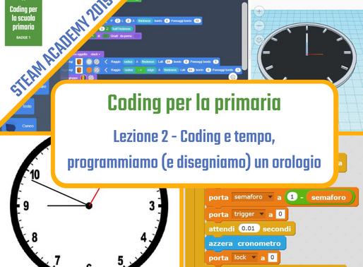 Coding e tempo: programmiamo (e disegniamo) un orologio