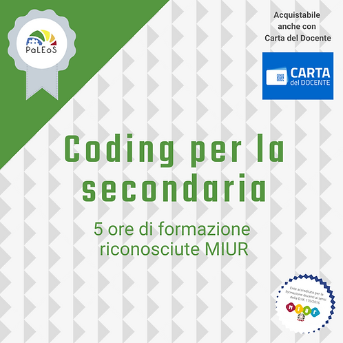 Coding per la secondaria