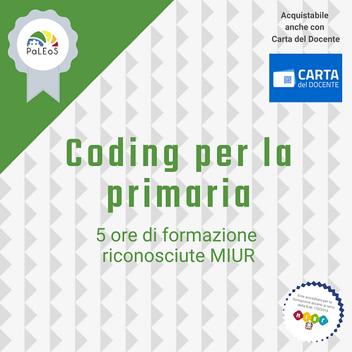 Coding per la primaria 10 badge