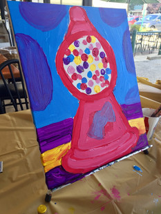 Kids Paint Day! Gumballs