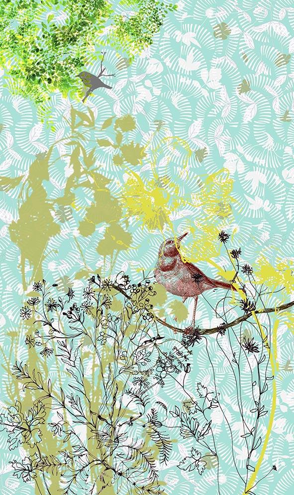 tenture oiseaux