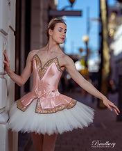 A female ballet dancer in a tutu