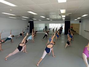 dancers stretching in a studio