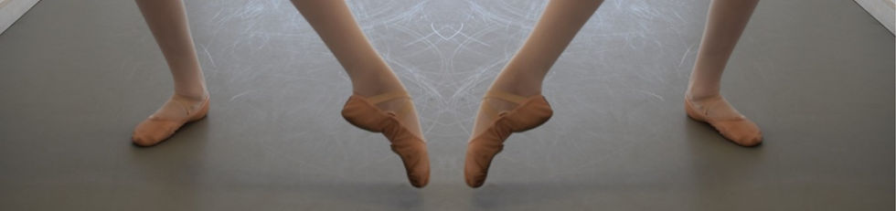 Ballet dancers pointing feet