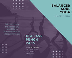 18 class punch pass- Balanced soul yoga.
